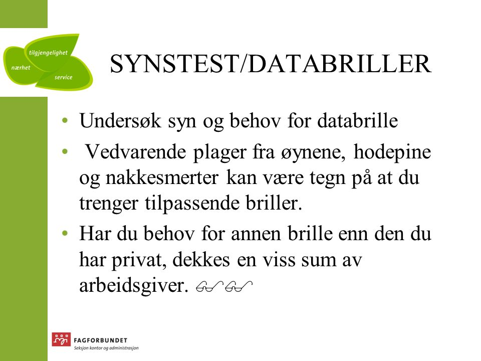SYNSTEST/DATABRILLER