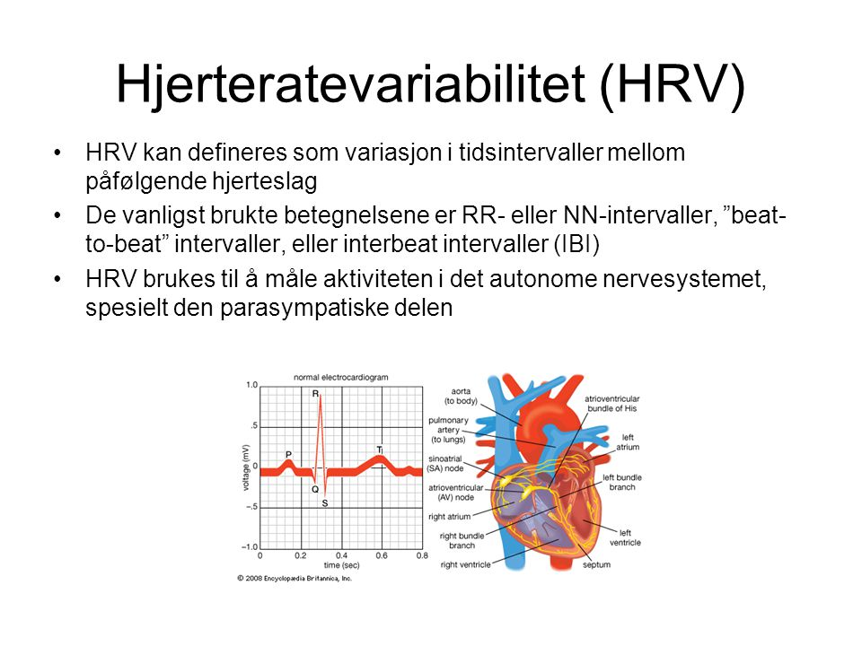 Hjerteratevariabilitet (HRV)