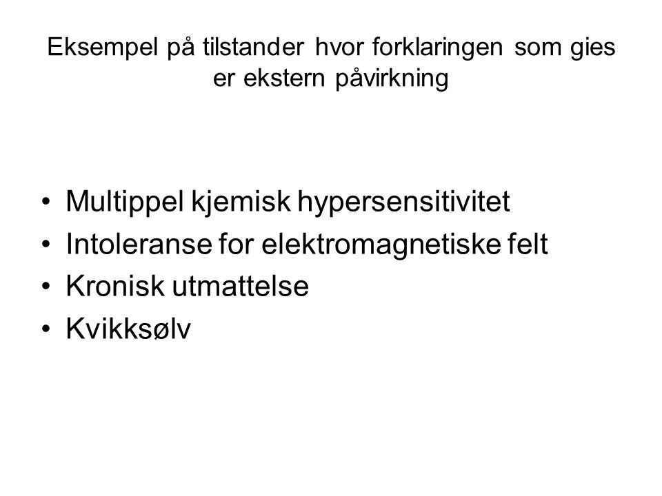 Multippel kjemisk hypersensitivitet