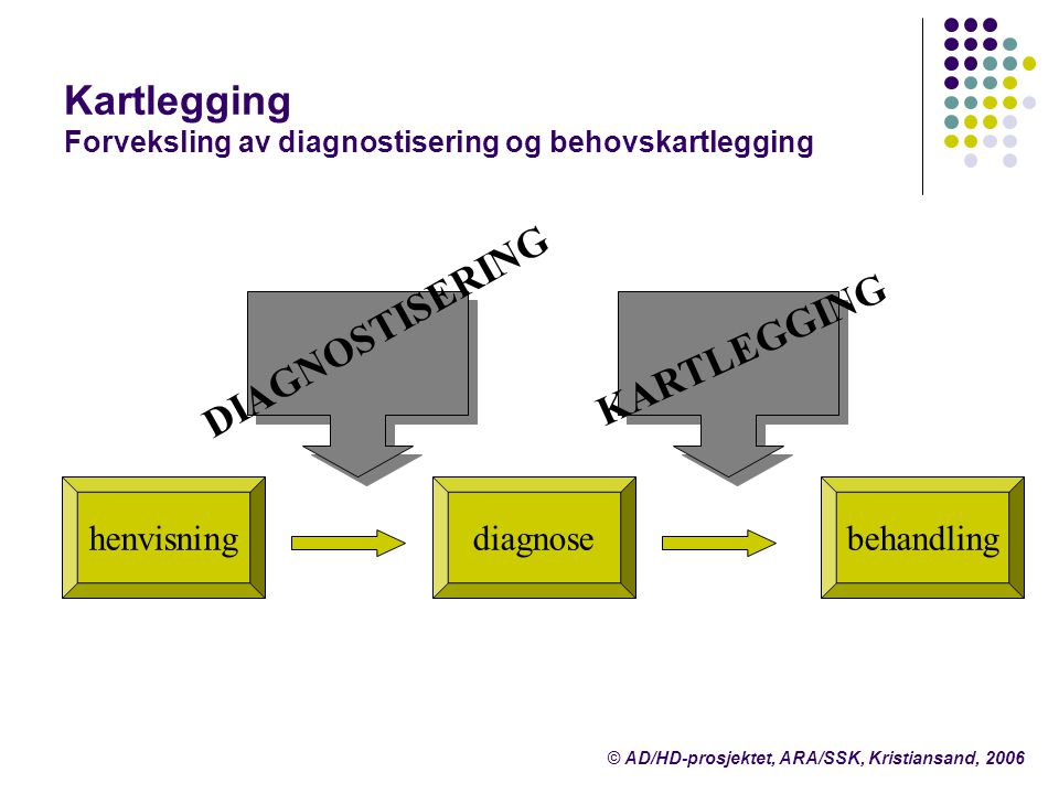 Kartlegging Forveksling av diagnostisering og behovskartlegging