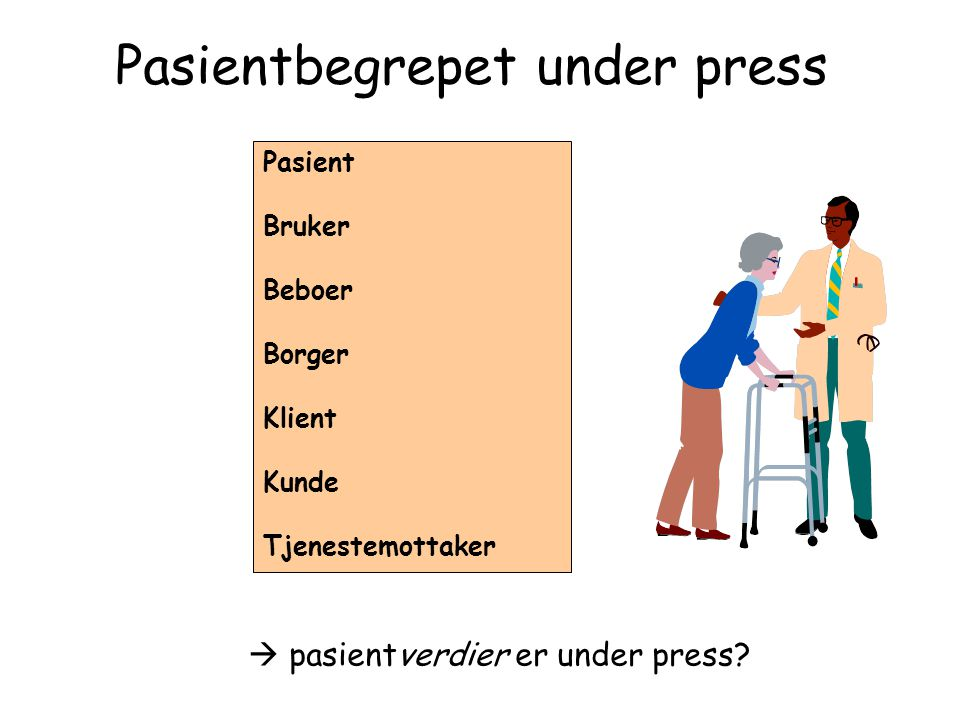 Pasientbegrepet under press