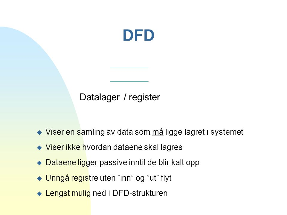 DFD Datalager / register