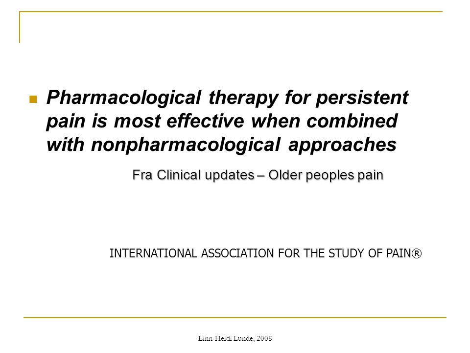 Fra Clinical updates – Older peoples pain