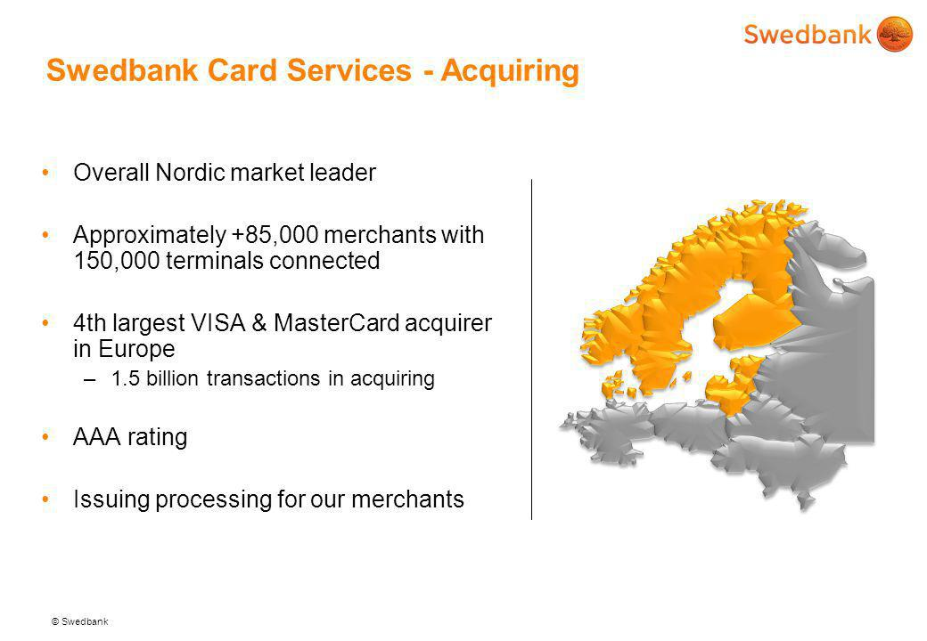 Swedbank Card Services - Acquiring