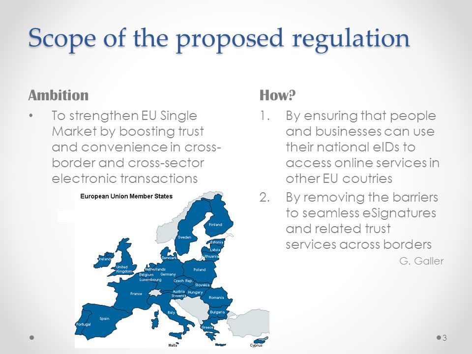 Scope of the proposed regulation