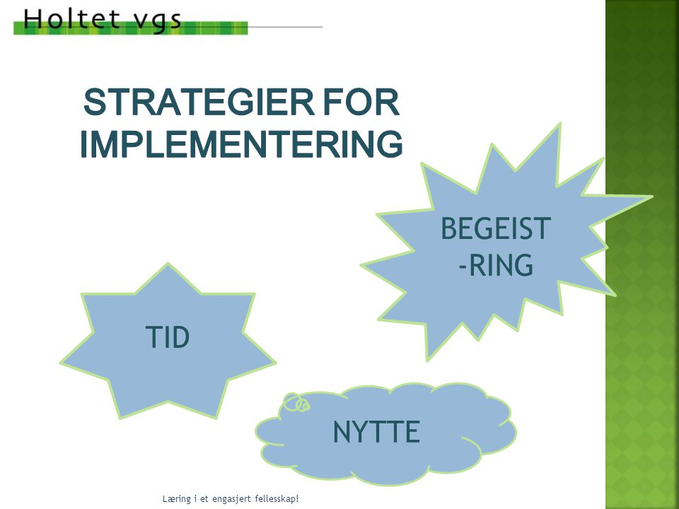 Strategier for implementering
