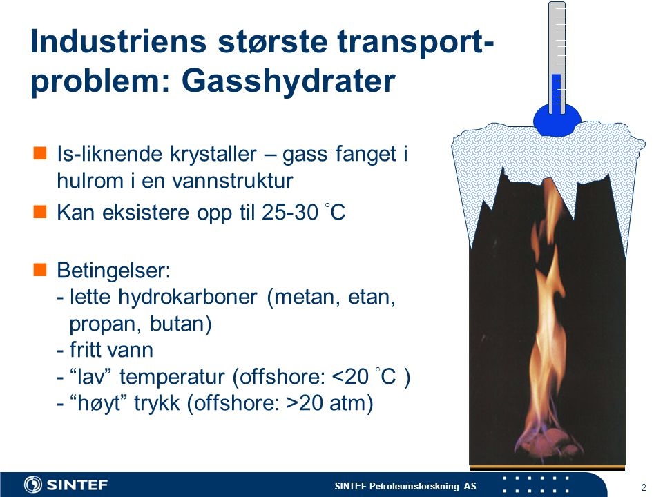 Industriens største transport-problem: Gasshydrater
