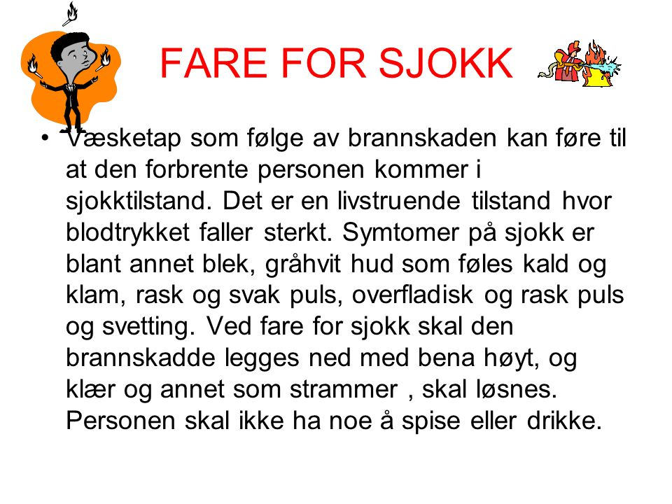 FARE FOR SJOKK