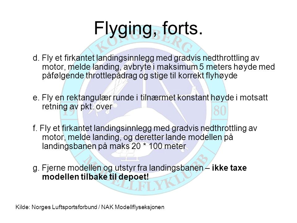 Flyging, forts.
