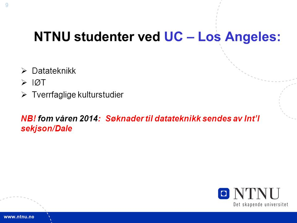 NTNU studenter ved UC – Los Angeles: