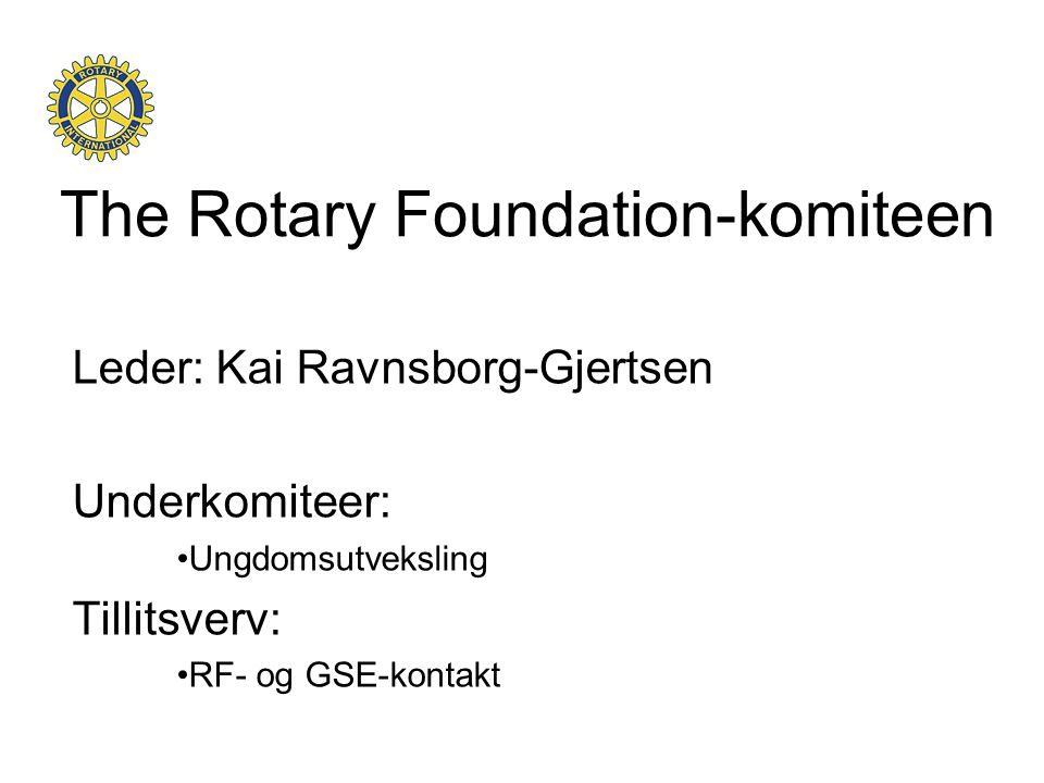 The Rotary Foundation-komiteen