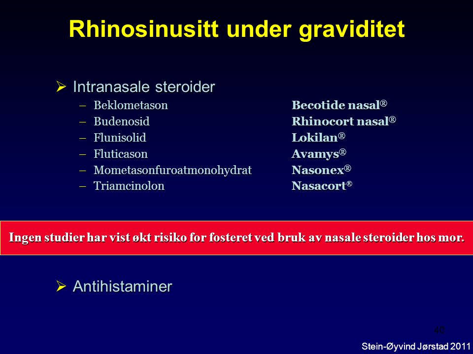Rhinosinusitt under graviditet