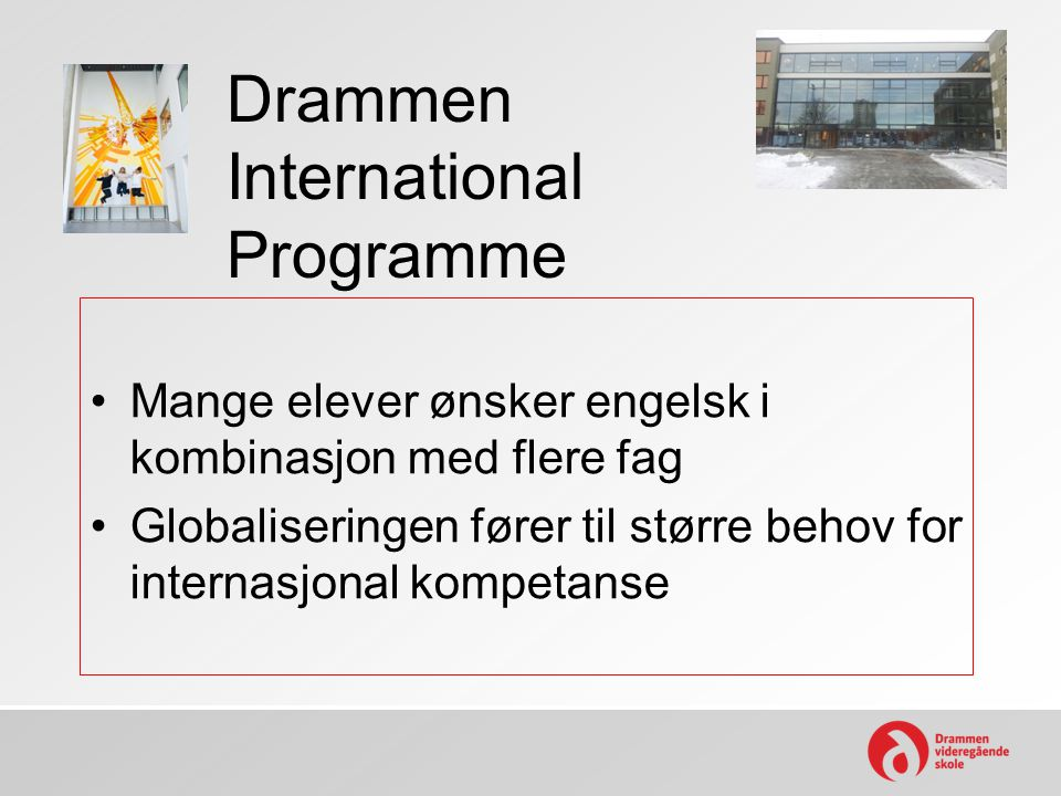 Drammen International Programme