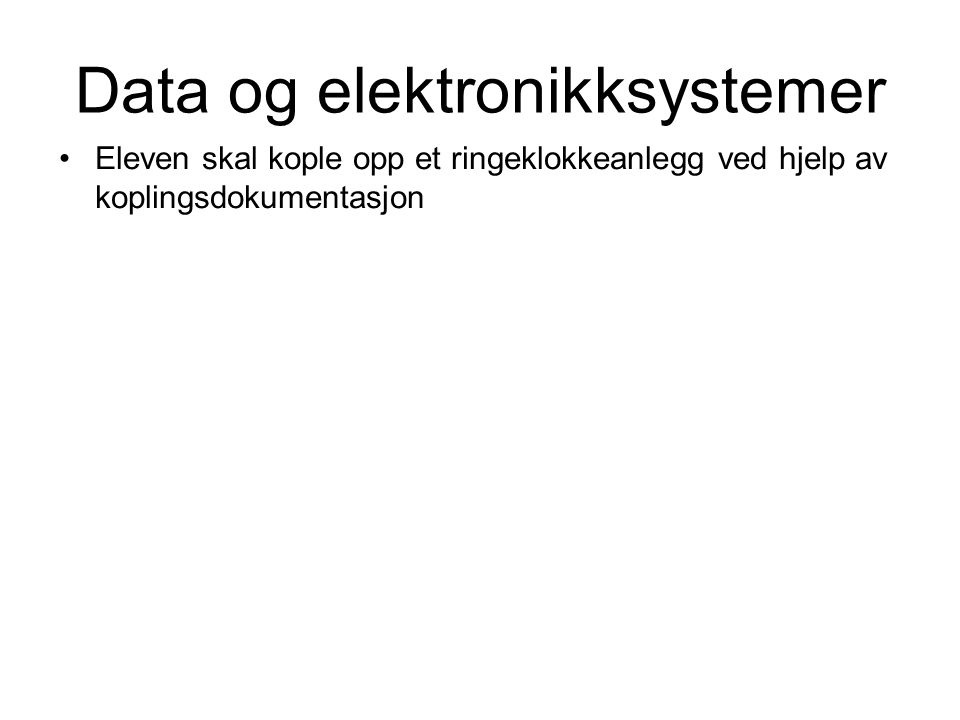 Data og elektronikksystemer