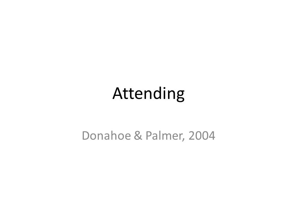 Attending Donahoe & Palmer, 2004