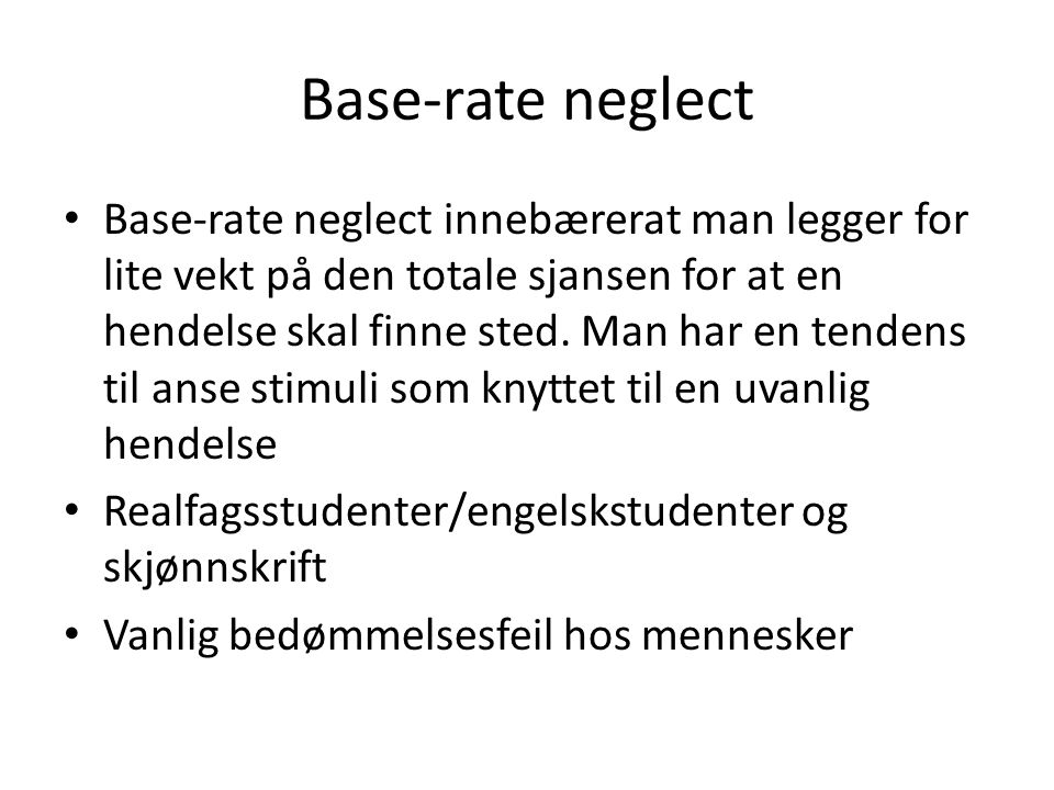 Base-rate neglect