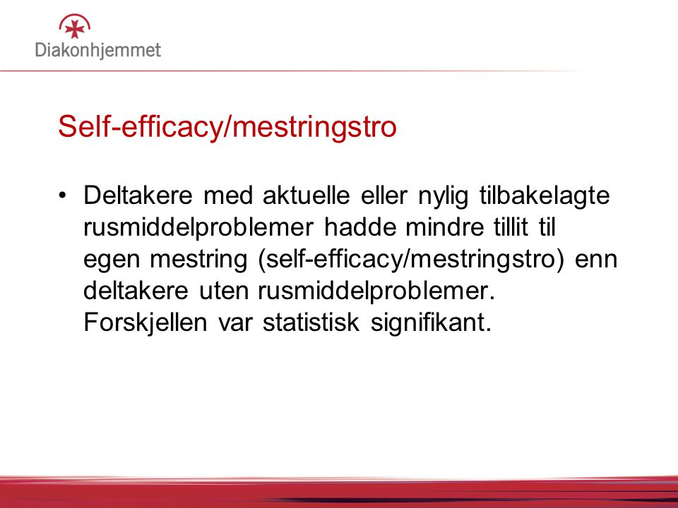 Self-efficacy/mestringstro