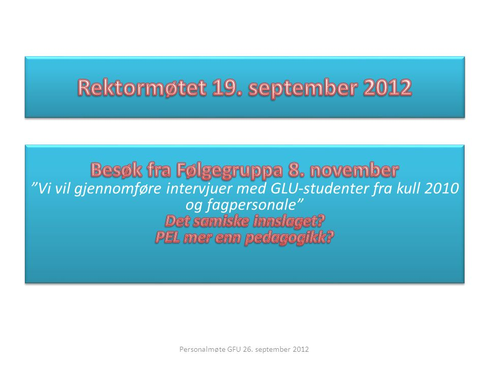 Rektormøtet 19. september 2012