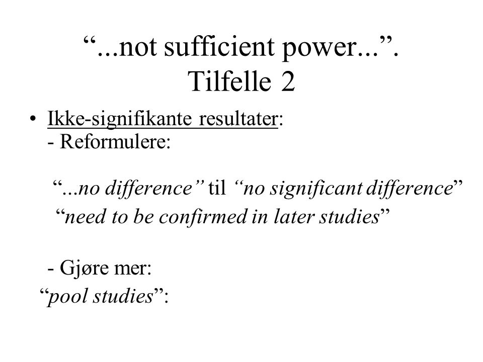 ...not sufficient power... . Tilfelle 2