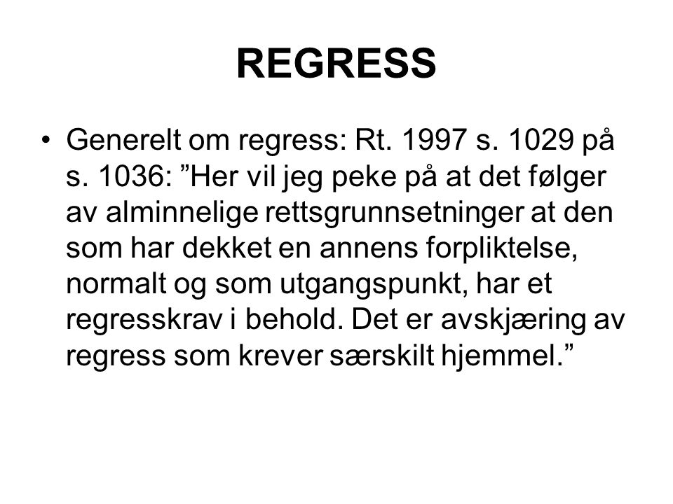 REGRESS