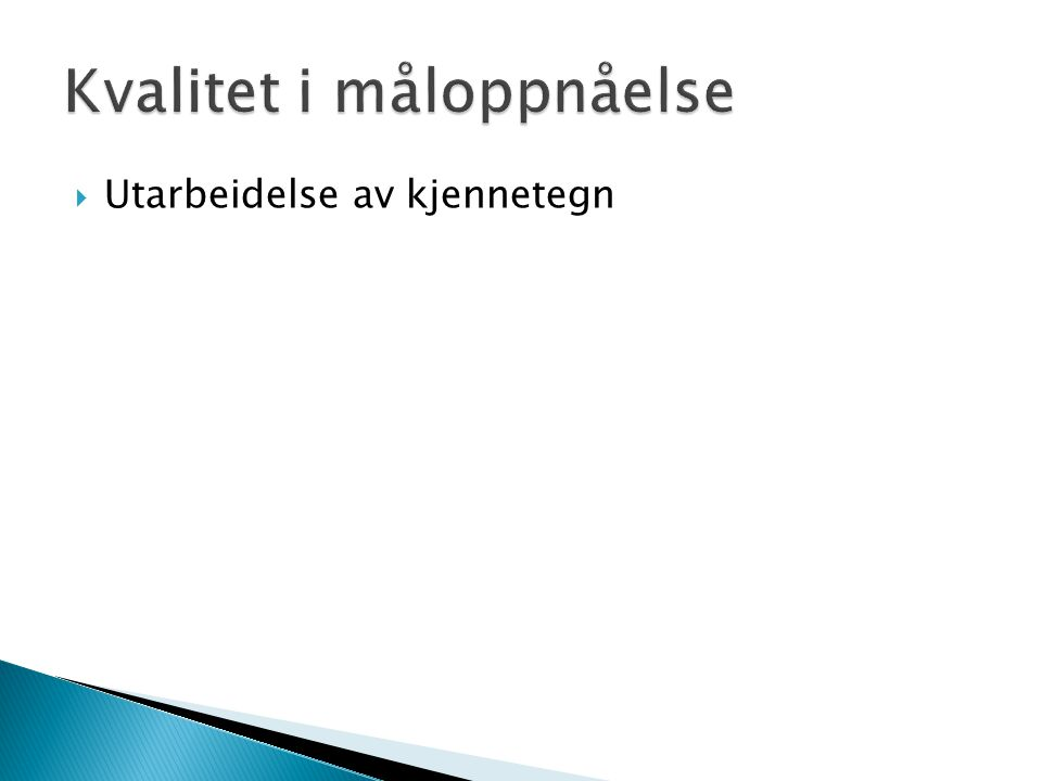 Kvalitet i måloppnåelse