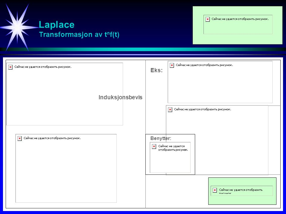 Laplace Transformasjon av tnf(t)