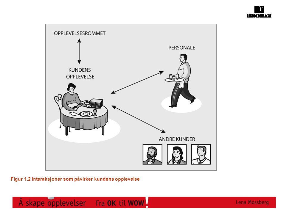 3601116a 4 Figur 1.2 Interaksjoner som påvirker kundens opplevelse