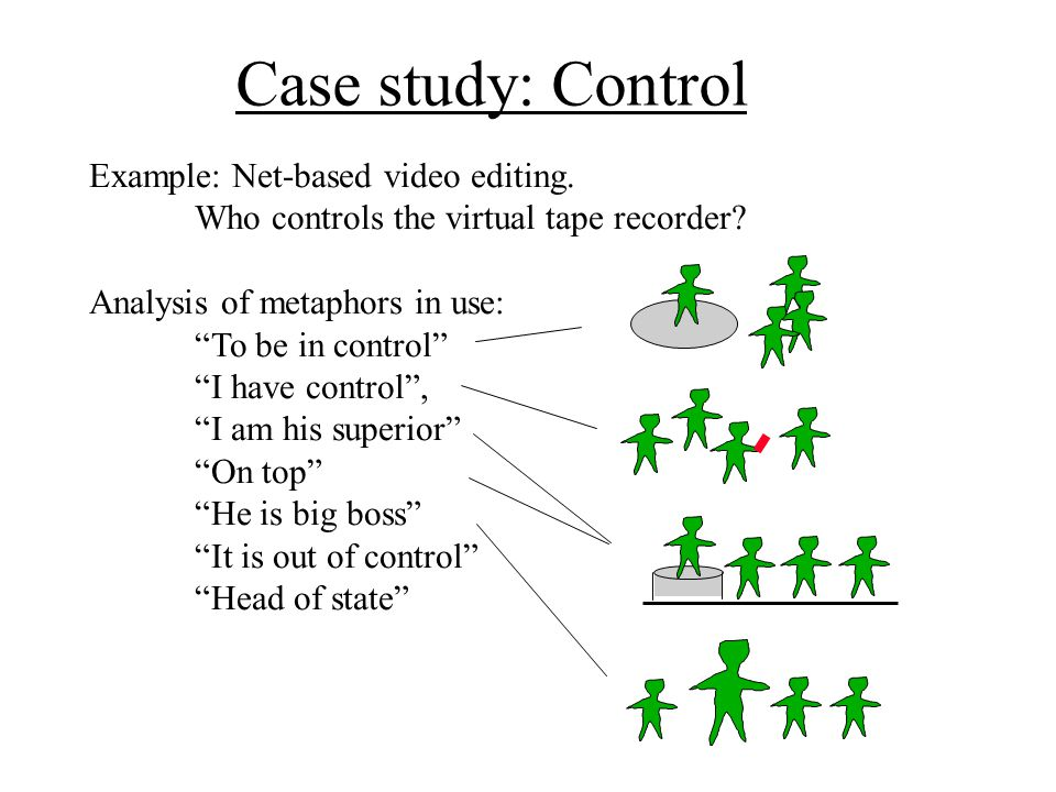 Case study: Control Example: Net-based video editing.