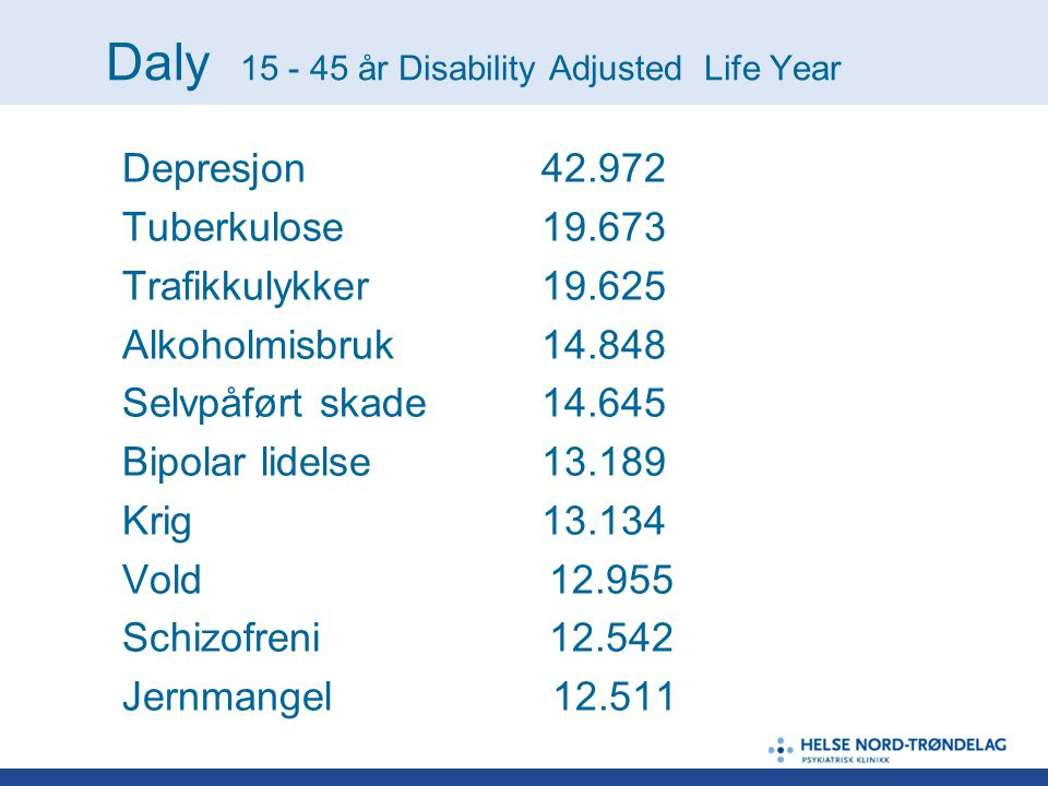 Daly år Disability Adjusted Life Year