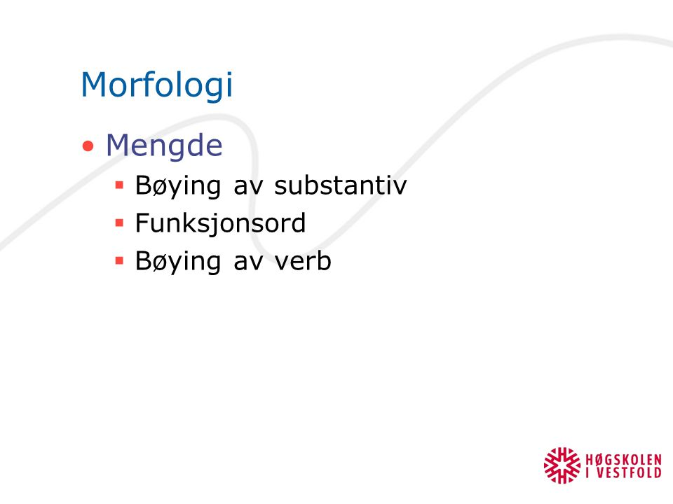 bøying av verb